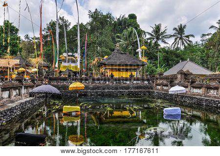 Temple Pond In Tirta Empul, Bali, Indonesia