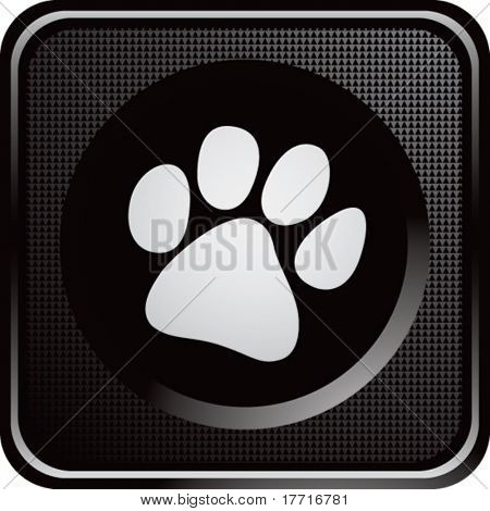 paw print black web button