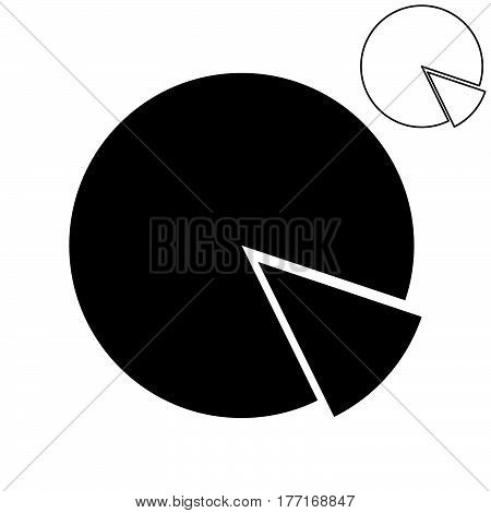 The Black Pie Chart With Part.