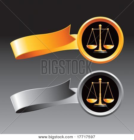 justice scales orange and gray ribbons
