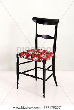 Elegant Black Fornasetti Chair