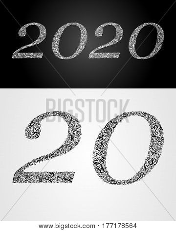 2020 year. Anniversary. World book and copyright day. International Day of writer. International Day of the Book. World Book Day. Studying and learning concept. Vector illustration.