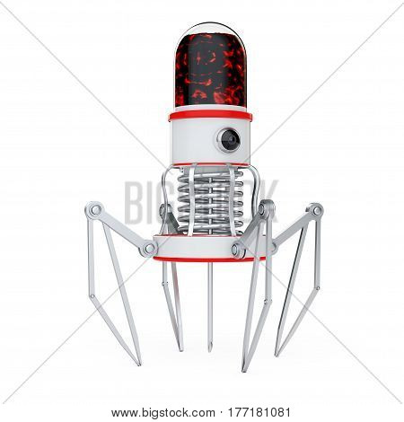 Blood Nano Robot with Camera Claws and Needle on a white background. 3d Rendering.