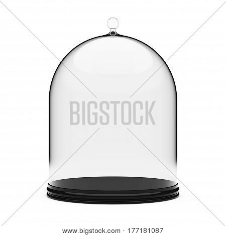 Tray with Glass Cover on a white background. 3d Rendering.
