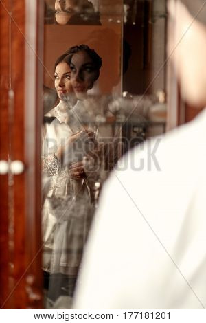 The Charming Bride Is In The White Robe