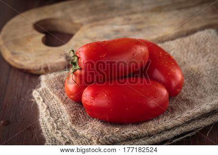 Fresh Raw San Marzano Tomatoes
