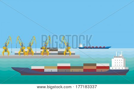 Pier And Ships.eps