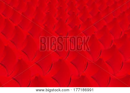 Pattern Of Red Twisted Pyramid Shapes
