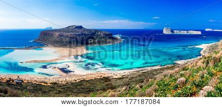 Amazing Greece- most beautiful beaches. Impressive Balos bay, Creece