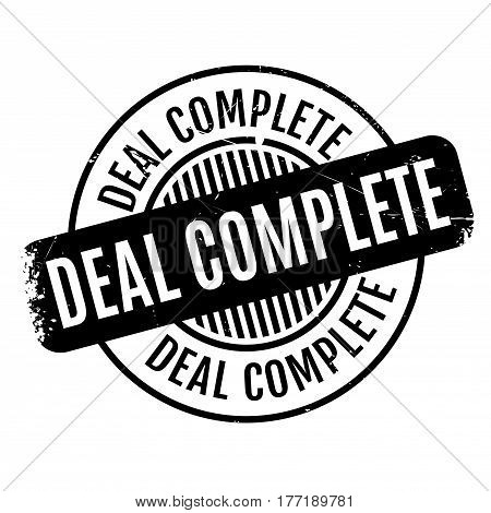 Deal Complete rubber stamp. Grunge design with dust scratches. Effects can be easily removed for a clean, crisp look. Color is easily changed.