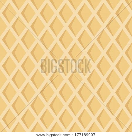 Seamless pattern with waffel texture. Cartoon texture