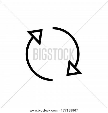 Refresh Icon vector Illustration. Reload Sign symbol