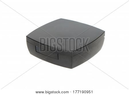 Closed black box for blush isolated on white background