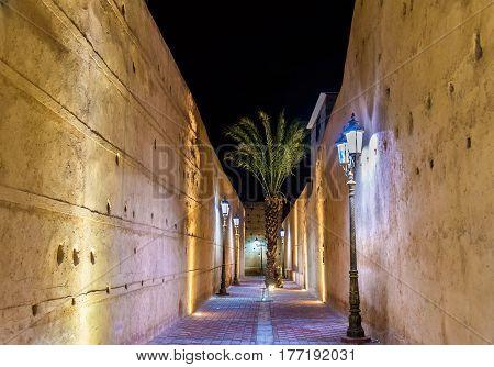 Passageway at El Badi Palace in Marrakech - Morocco