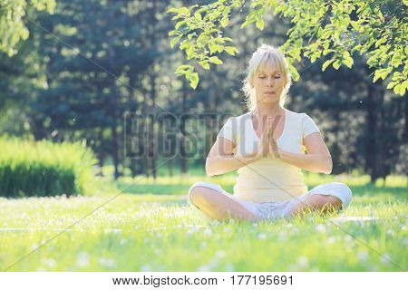 Yoga Woman In The Park