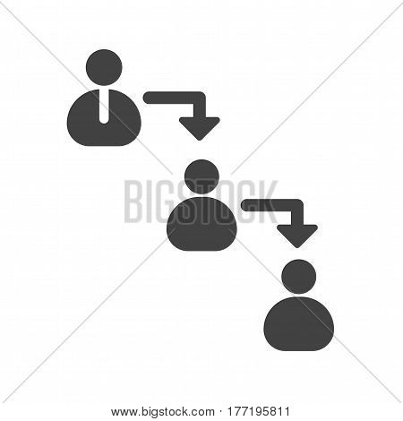 Command, chain, hierarchy icon vector image. Can also be used for business administration. Suitable for mobile apps, web apps and print media.