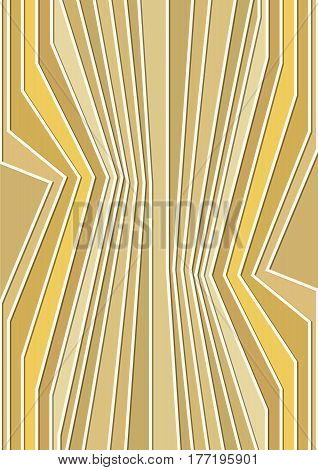 Abstract vertical background with angled yellow stripes incubist surrealist style vector EPS 10