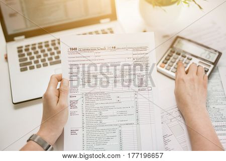 tax return form income calculator irs individual