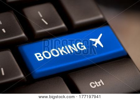flight booking keyboard plane travel fly check buy website e-ticket