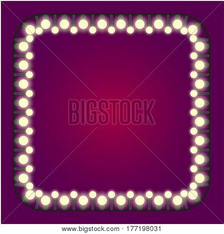 Casino or holidays lights frame vector stock art
