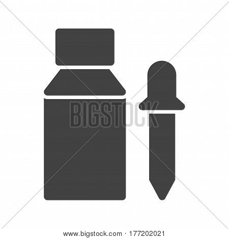 Dropper, pipette, bottle icon vector image. Can also be used for chemistry. Suitable for mobile apps, web apps and print media.