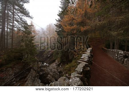 Bridge at Bruar Falls, Scottish Highlands