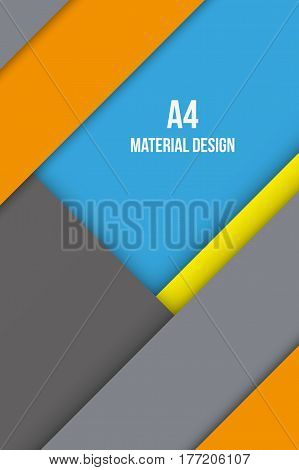 Background Unusual modern material design. Format A4. Editable Abstract Vector Illustration.