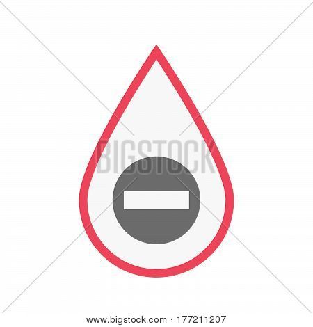 Isolated Blood Drop With  A No Trespassing Signal