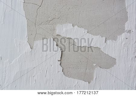 Abstract texture of wall covered with obsolete cement plaster