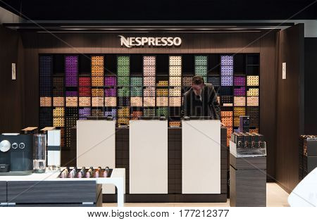 Nespresso Store At Schiphol Airport Amsterdam