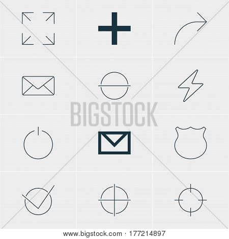 Vector Illustration Of 12 Member Icons. Editable Pack Of Plus, Screen Capture, Remove And Other Elements.