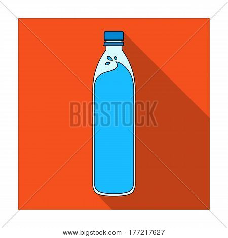 A bottle of water. Water to cool the bicyclist while riding.Cyclist outfit single icon in flat style vector symbol stock web illustration.