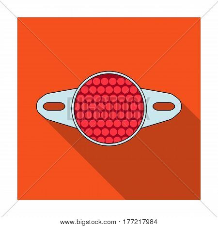 Reflector for cyclists. Icon for better visibility on the road.Cyclist outfit single icon in flat style vector symbol stock web illustration.