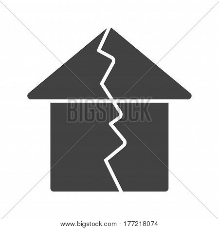 Earthquake, damage, house icon vector image. Can also be used for disasters. Suitable for mobile apps, web apps and print media.