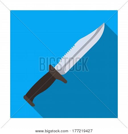 Military knife. Weapons of criminals.Prison single icon in flat style vector symbol stock web illustration.