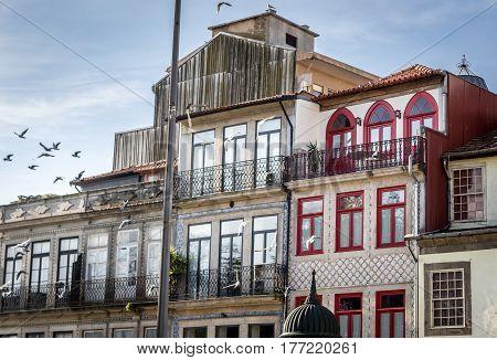 Apartment buildings in Santo Ildefonso civil parish Porto in Portugal