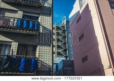 Residential buildings in Porto city in Portugal