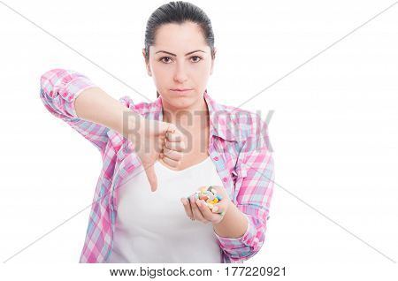 Serious Female Dislike The Concept Of Synthetic Vitamins