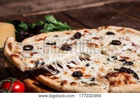 Pizza Fast Food Restaurant Menu Ingredients Italian Cuisine Food Concept