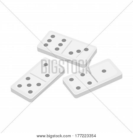 Dominoes for playing in the casino. Gambling for money.Kasino single icon in monochrome style vector symbol stock web illustration.