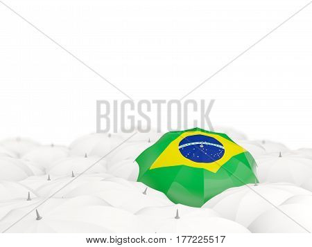 Umbrella With Flag Of Brazil
