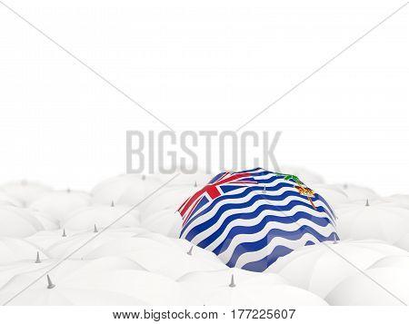 Umbrella With Flag Of British Indian Ocean Territory