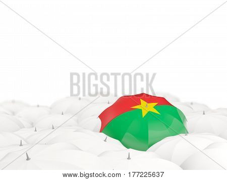 Umbrella With Flag Of Burkina Faso