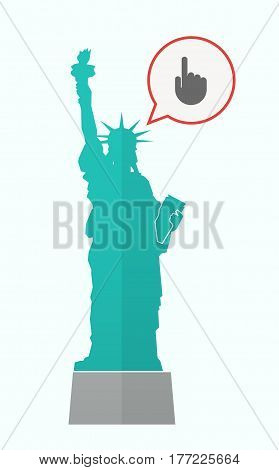 Isolated Statue Of Liberty With A Pointing Hand