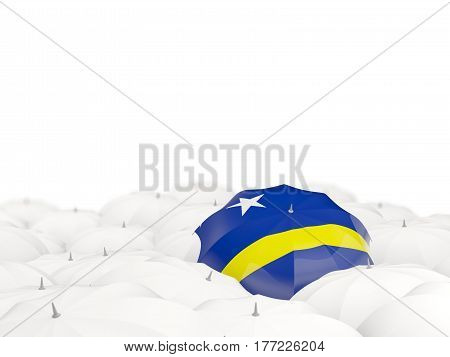 Umbrella With Flag Of Curacao