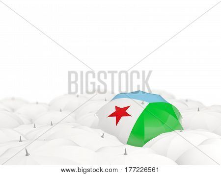 Umbrella With Flag Of Djibouti