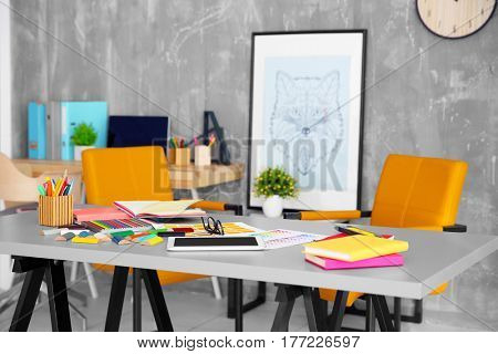 Designer working place at modern office