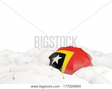 Umbrella With Flag Of East Timor