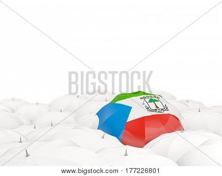 Umbrella With Flag Of Equatorial Guinea