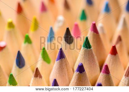 Color pencils close-up - shallow depth of field
